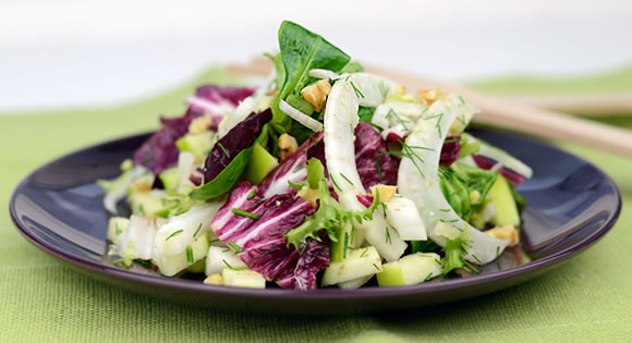 Apple, Fennel and Radicchio Salad